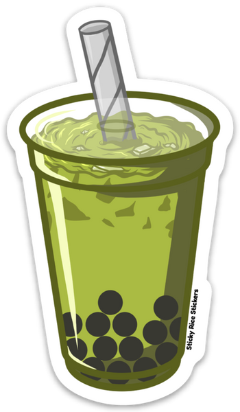 Green Boba - Sticker