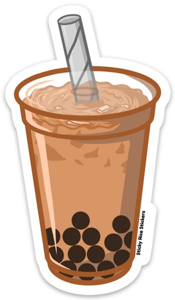 Milk Tea Boba - Sticker