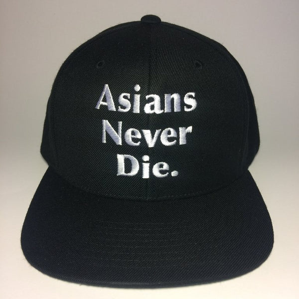 AsiansNeverDie. Black Snapback Hat