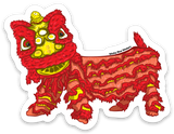 Red Lion New Year - Sticker
