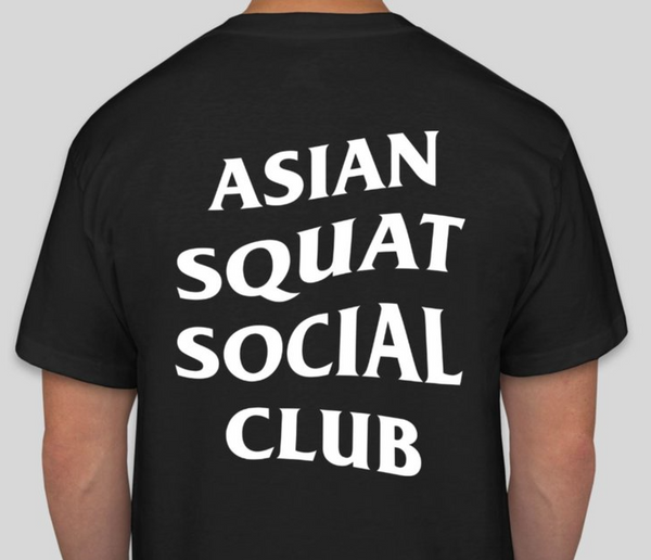 Asian Squat Social Club Classic Logo TSHIRT - Black