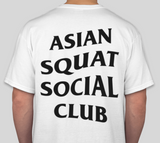 Asian Squat Social Club - CLASSIC TSHIRT - WHITE