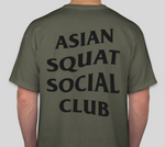 Asian Squat Social Club - CLASSIC TSHIRT - OLIVE