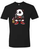 Squatting Panda - Black TSHIRT