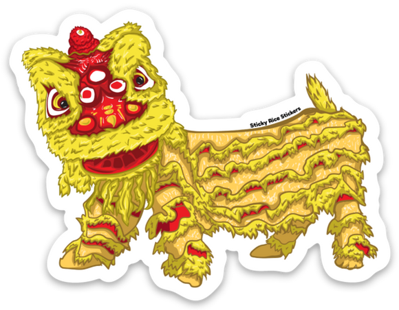 Yellow Lion New Year - Sticker