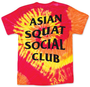 Asian Squat Social Club - CLASSIC TSHIRT - TIE DYE YELLOW/RED