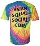 Asian Squat Social Club - CLASSIC TSHIRT - TIE DYE RAINBOW