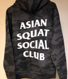 Asian Squat Social Club - HOODIE - BLACK CAMO