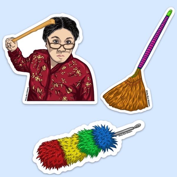Angry Asian Mom Punishment Kit - Sticker