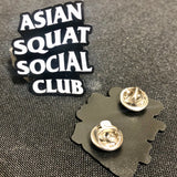 Asian Squat Social Club Enamel Pin