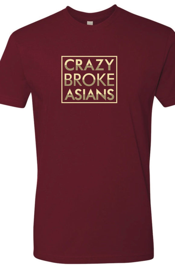 Crazy Broke Asians - TSHIRT - Cardinal Red
