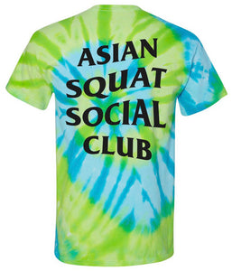 Asian Squat Social Club - CLASSIC TSHIRT - TIE DYE GREEN