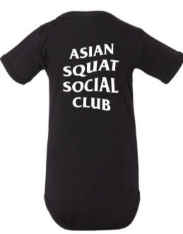 Asian Squat Social Club - ONESIE - BLACK