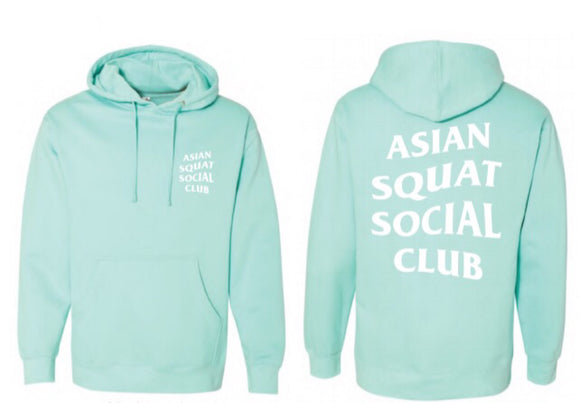 Asian Squat Social Club - CLASSIC HOODIE - MINT