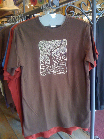 M's Muir Quote Tee Shirt, Brown