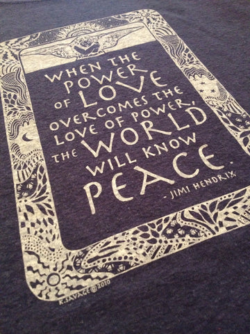 M's Hendrix Quote Tee Shirt, Charcoal