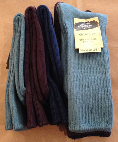 Organic Cotton Crew Socks - Tri-Pack