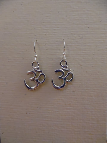Earrings, Aum Symbol