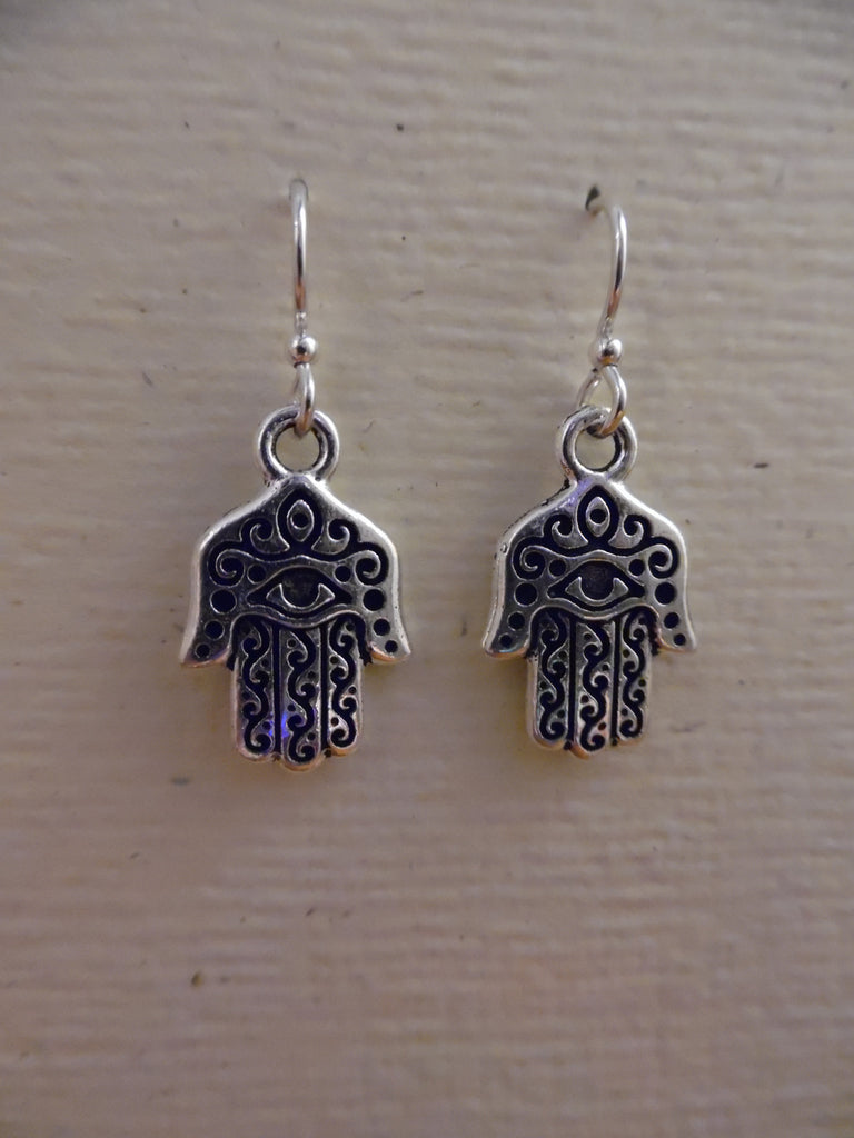 Earrings, Hamsa