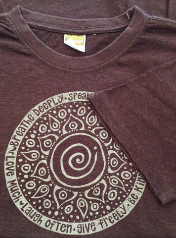 M's Breathe Deeply Tee Shirt, Brown