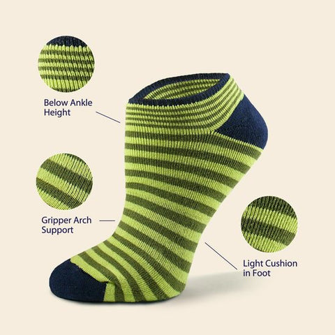 Organic Cotton Cush Footie Socks, Stripes