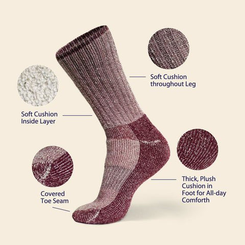Organic Wool Killington Mountain Hiker Socks
