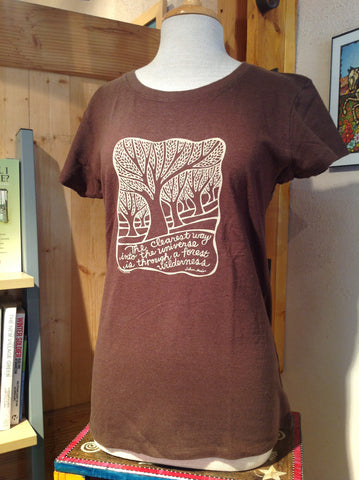 W's Muir Quote Tee Shirt, Brown