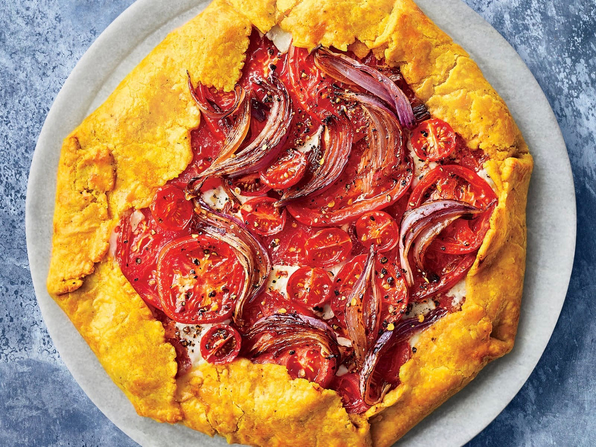 Samantha's Roasted Curry Tomato Pie