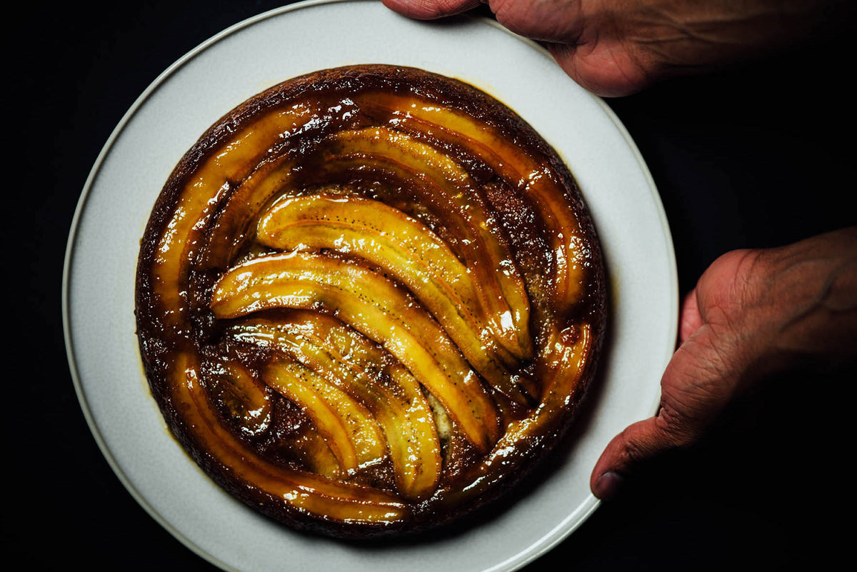 Nik's Ghee and Cardamom Upside Down Banana Cake