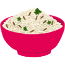 jeera rice bowl illustration