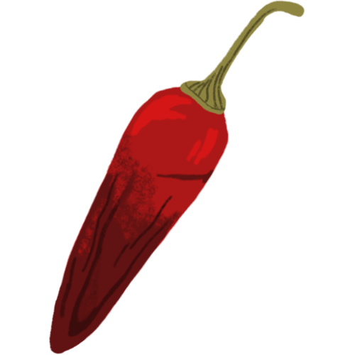 Illustration of a whole chili