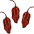 illustration of a few chili peppers