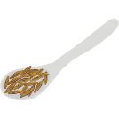 Illustration of whole cumin on a spoon