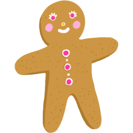 illustration of a gingerbread man