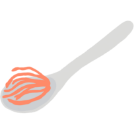 Illustration of mace blade on a spoon