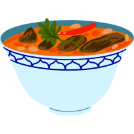massaman curry illustration