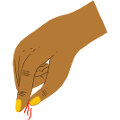 Illustration of a pinch of saffron