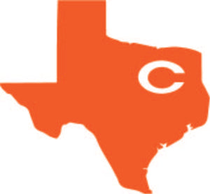 State of Texas with C decal