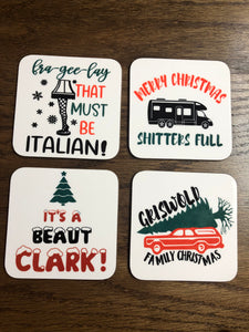 Christmas Vacation Coasters Set of 4