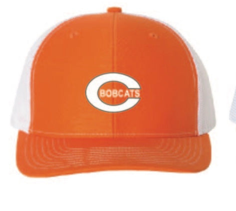 C Bobcat Orange/White Richardson Snap Back
