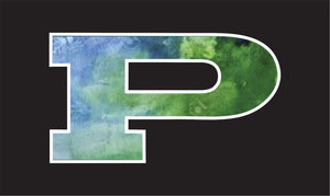 P Car Decal Blue/Green Watercolor