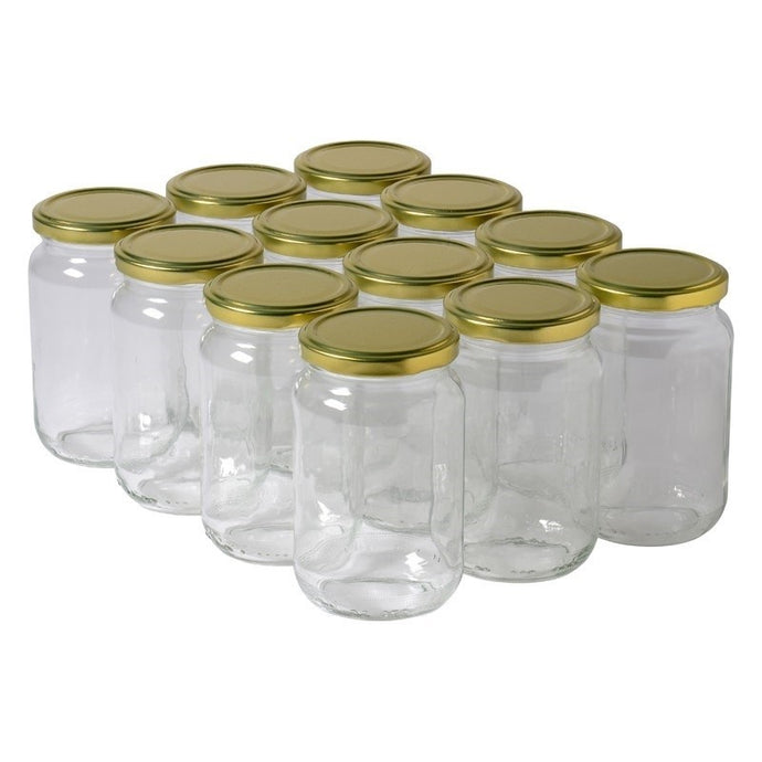 Glass jars 0.55 lb (250 g)