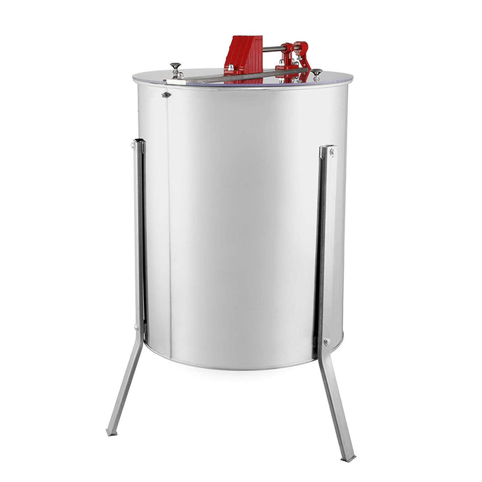 Manual honey extractor, 4 frames or 15 half-frames