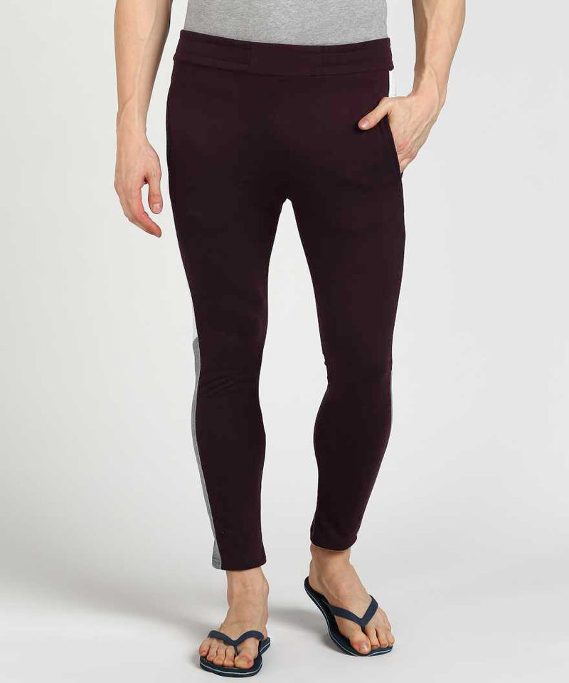 Wine Colour Pop Track Pants