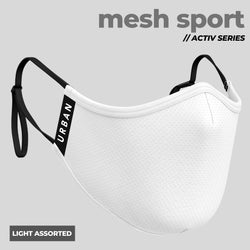 Mesh Sport Light Assorted- Anti-Pollution Mask | Adjustable Ear Loops | Pack of 4