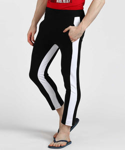 Black White In-Out Track Pants