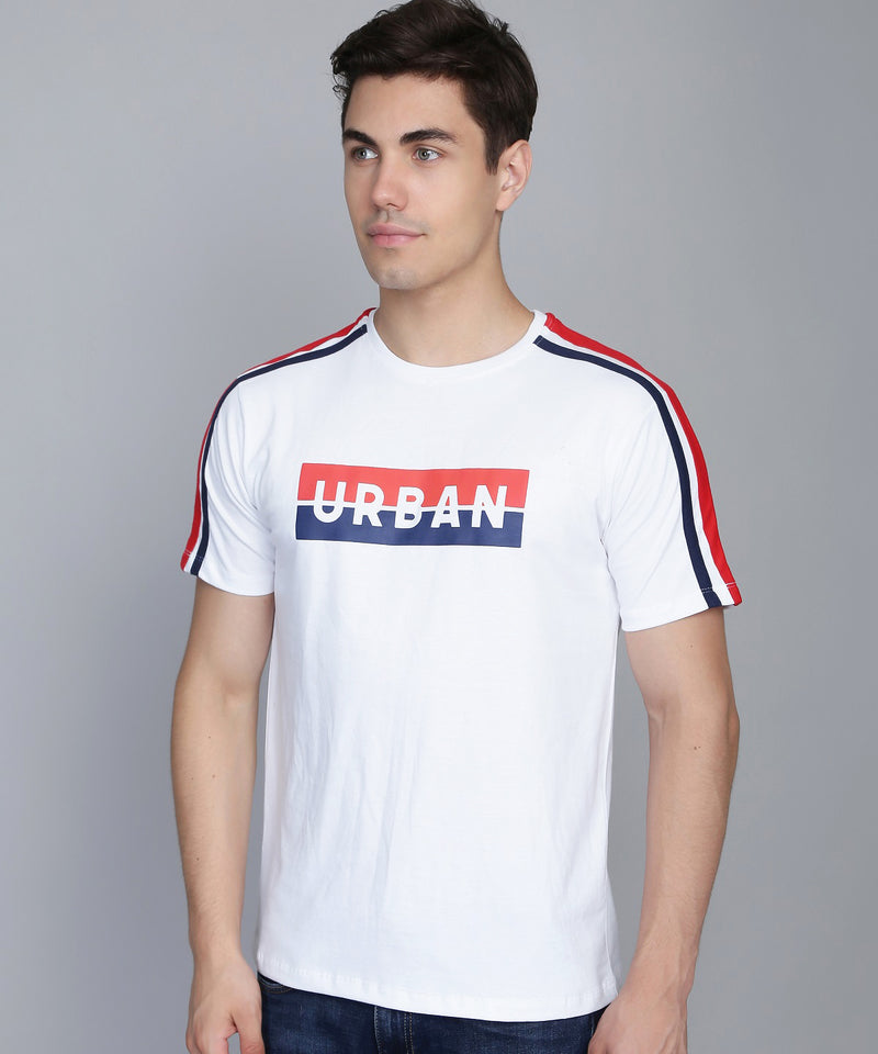Arctic White Shoulder Stripe T-Shirt
