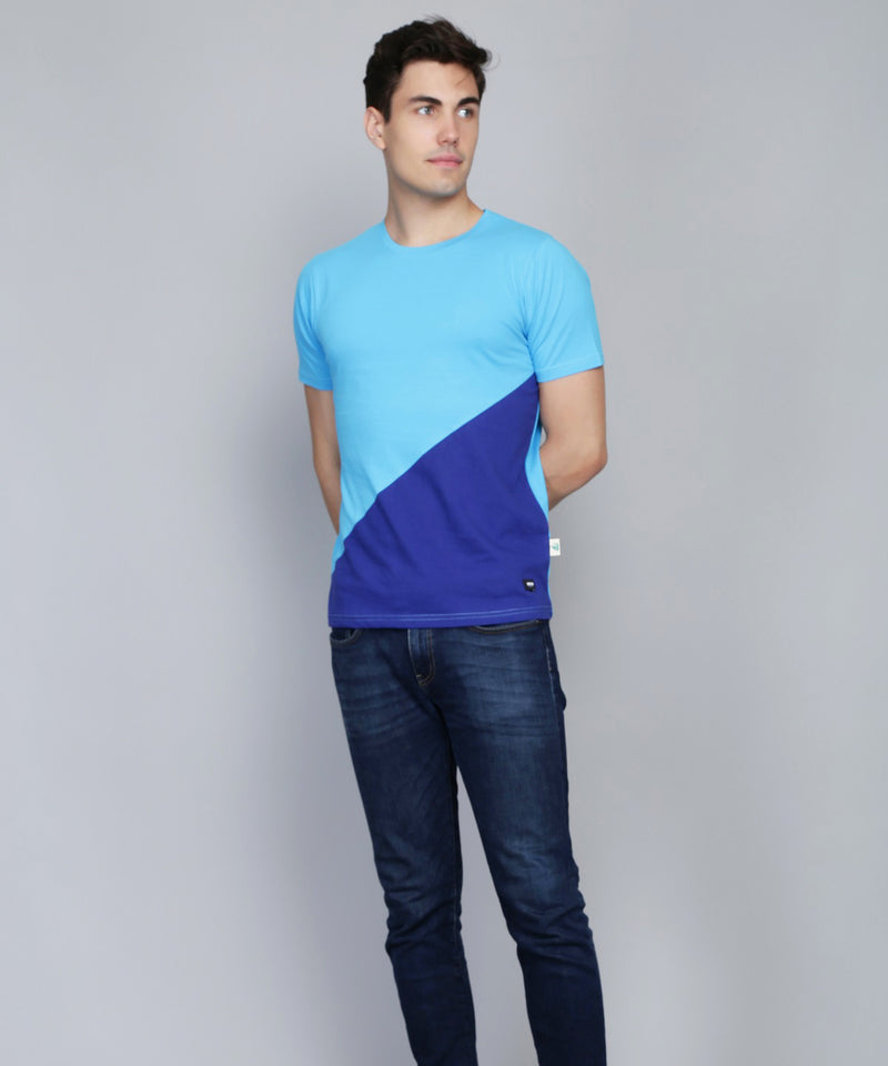 Icy Blue Panel T-shirt