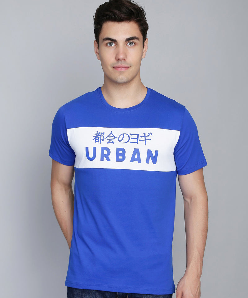 Cobalt Blue and White T-Shirt