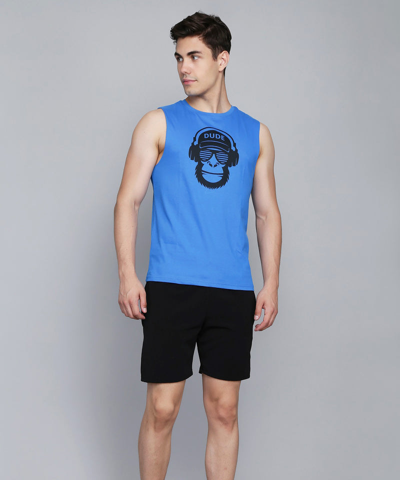 Electric Blue Dude Vest